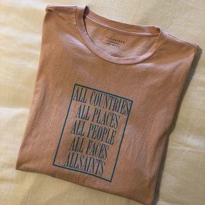 Men's All Saints oversized graphic tee shirt